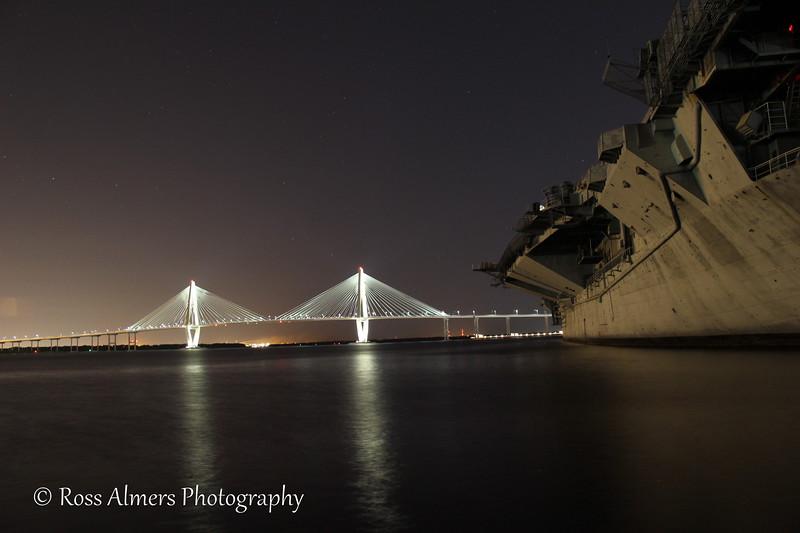 Cooper River Bridge At Night