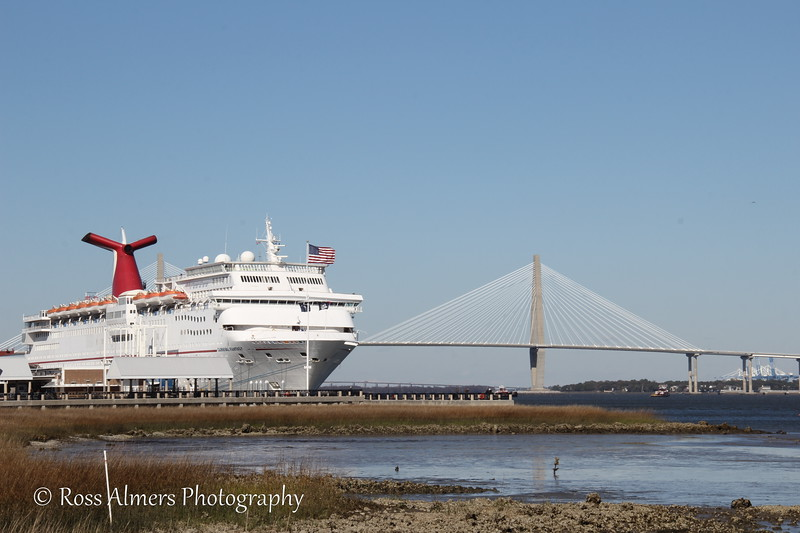 Cruise Ship with the Ravenel Bridge