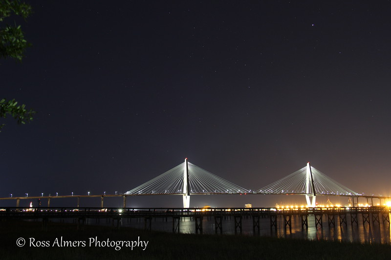 Cooper River Bridge At Night