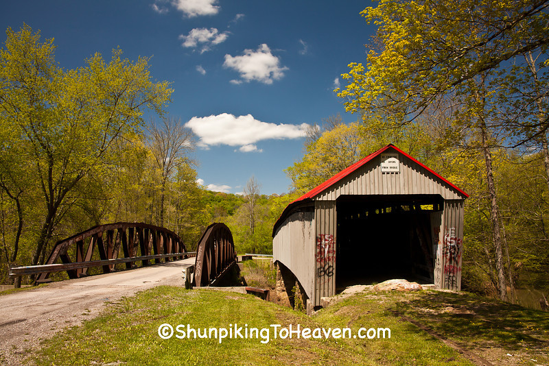 Ponn Humpback Covered Bridge and Pony Truss Bridge, Vinton County, Ohio