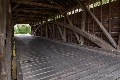 Interior, Utica Mills Bridge - Frederick County