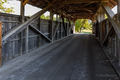 Coburn Covered Bridge, Interior - Washington County, VT
