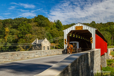 Horse & Buggy at Pine Grove Bridge - Chester & Lancaster Counties