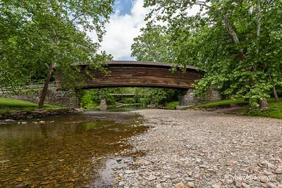 Humpback Bridge & (Low) Dunlap Creek - Alleghany County