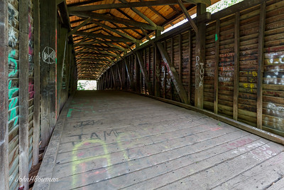 Interior, Humpback Bridge (defaced by self-centered morons) - Alleghany County