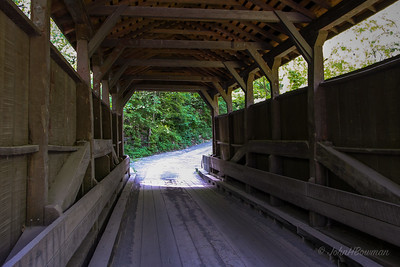 Interior, Herns Mill Bridge - Greenbrier County