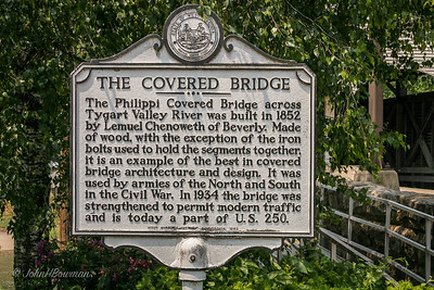 Historic Marker for Philippi Bridge - Barbour County