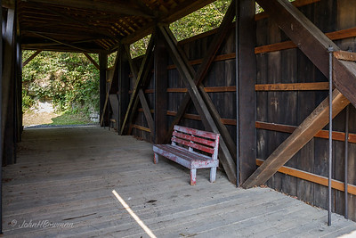 Interior, Indian Creek Bridge - Monroe County