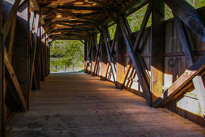 Interior, Hokes Mill Bridge - Greenbrier County