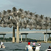Demolition of the Town Creek span of the Pearman Bridge.