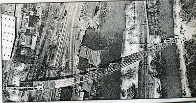 Construction Continuing  on the Carter Glass Memorial Bridge in 1954   (4212)