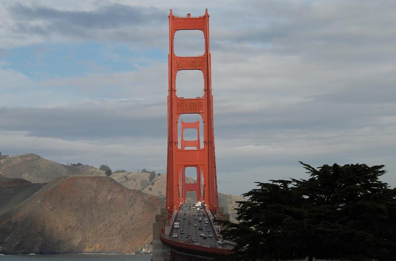 View north, Golden Gate Bridge