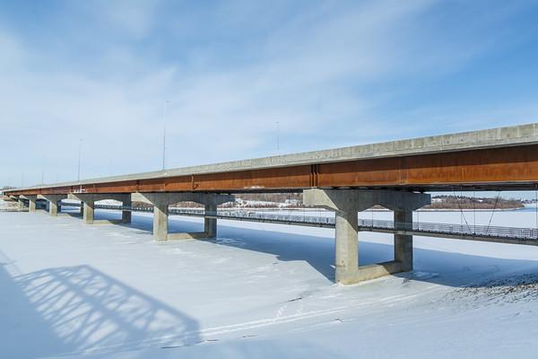 New Bridge Construction in Winter