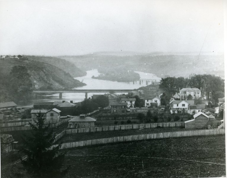 View of the James River Bridge from Daniel's Hill, C. 1876 (4261)