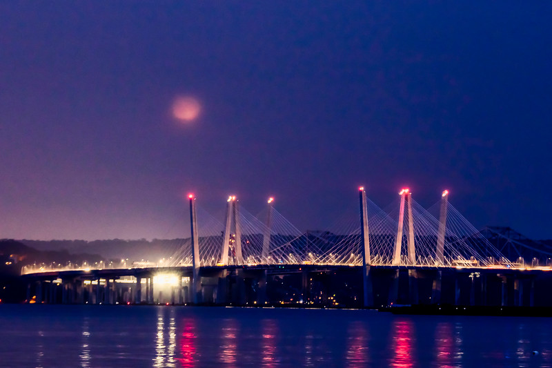 Tapan Zee and Blood Moon