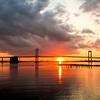 Throgsneck Bridge Big Sunset