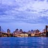 Manhattan n Brooklyn Bridge Early Eve