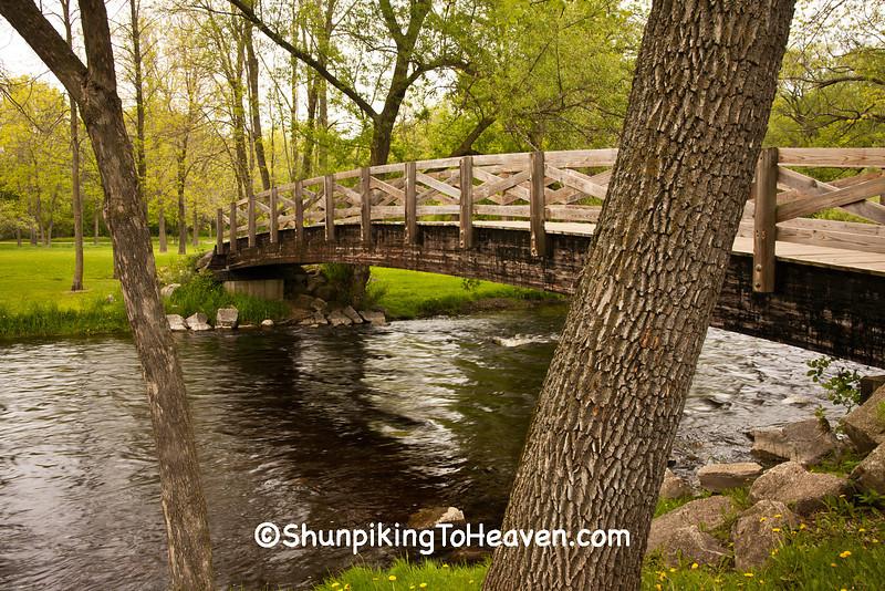 Foot Bridge Over Cedar Creek, Ozaukee County, Wisconsin