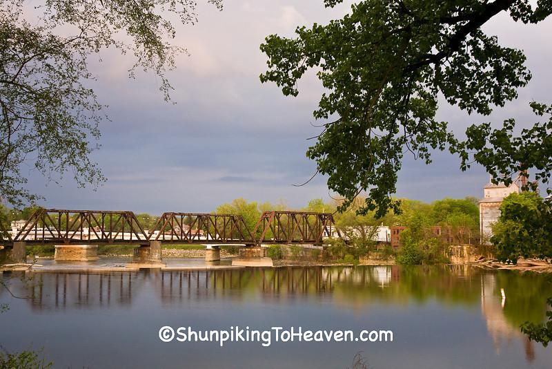 Old Railroad Bridge on the Muskingum River, Zanesville, Ohio