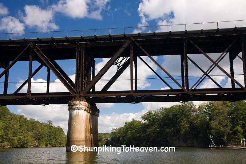 Old Railroad Bridge, Wisconsin River, Wisconsin Dells, Wisconsin