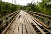 Swinging Bridge Damaged in Flood, Stone County, Arkansas