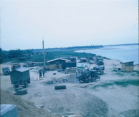 Staging area, north side, for Quang Tri bridge 1970.