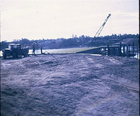 Stating North side of Quang Tri bridge 1970
