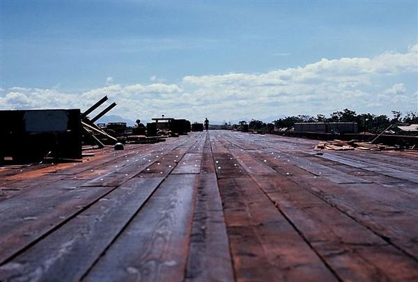 "The runway.  901'. Finish planking full 2.5""X12"", Quang Tri bridge 1970."