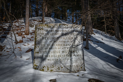 """""""Marker with Rev. John Williams words about loosing his wife"""""""