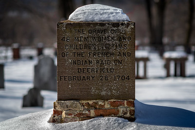 """""""The grave of 48 men women and children, victims of the French and Indian raid on Deerfield. February 29, 1704."""""""