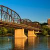 Old Rusty Metal Bridge