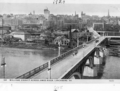 View of Williams Viaduct from Amherst side. C. 1920 (4249)
