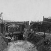 Williams Viaduct Construction from Cabell Street, 1918  (09598)
