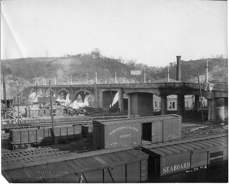 Williams Viaduct 1919-1988 and the Samuel B. Rucker House  (09595)