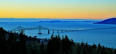 Astoria-Megler Bridge at Sunset