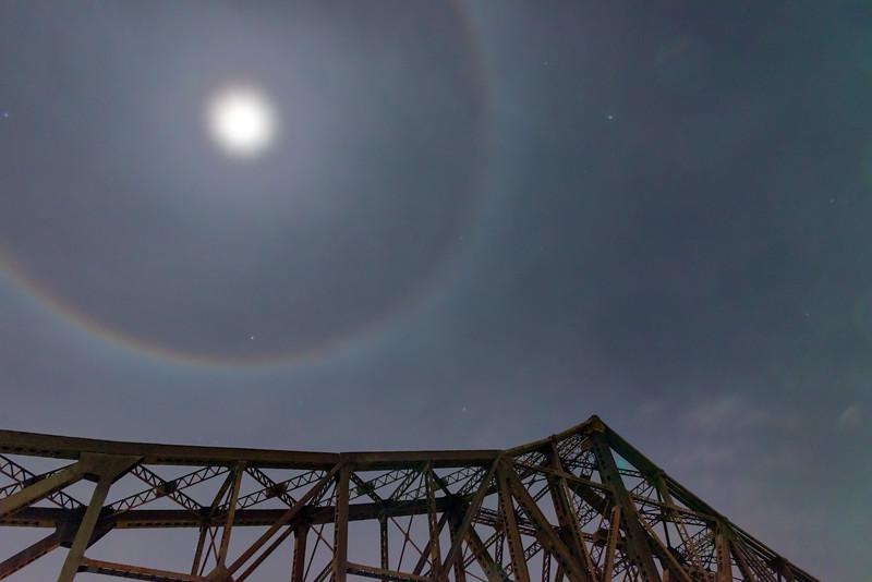Moonbow Over the Monaca-Beaver Railroad Bridge