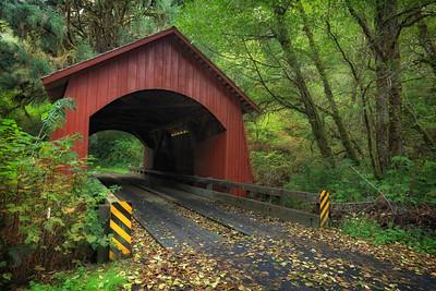 North Fork Yachats River Covered Bridge