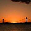 Sun Setting Under The Verrazano Bridge