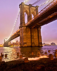 Brooklyn Bridge, New York, New York, USA