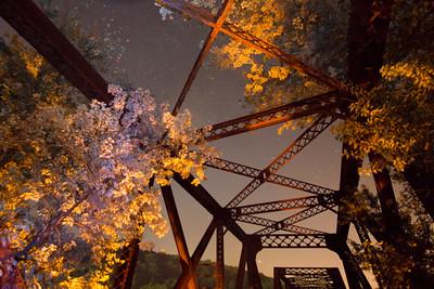 Old train bridge between New Jersey and Pennsylvania