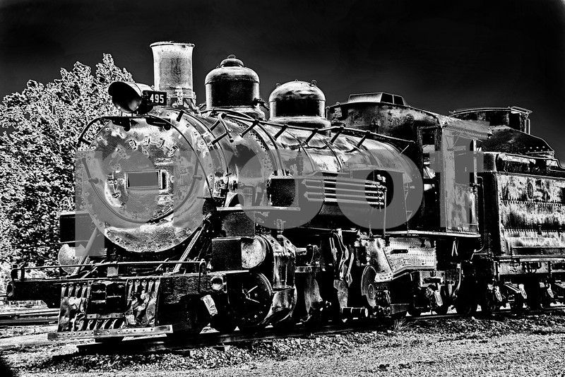 Old train engine, south of Alamosa, Co