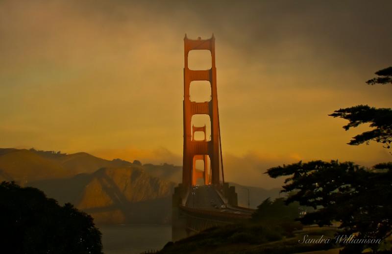 Lovely soft morning at the Golden Gate, San Francisco
