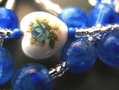 bridget in blue rosary
