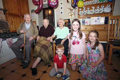 Great Granddaughter Clodagh celebrated her 9th on same day as Bridgie's 90th