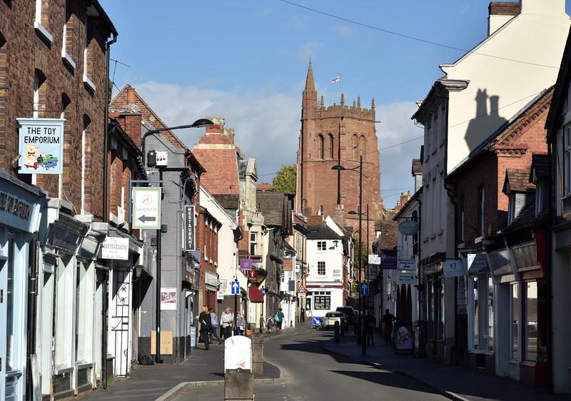 Whitburn Street and St Leonards church, Bridgnorth.
