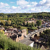 Views of Low town from castle walk/terrace, Bridgnorth.