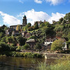 views from Low Town towards the river Severn and High town, Bridgnorth.