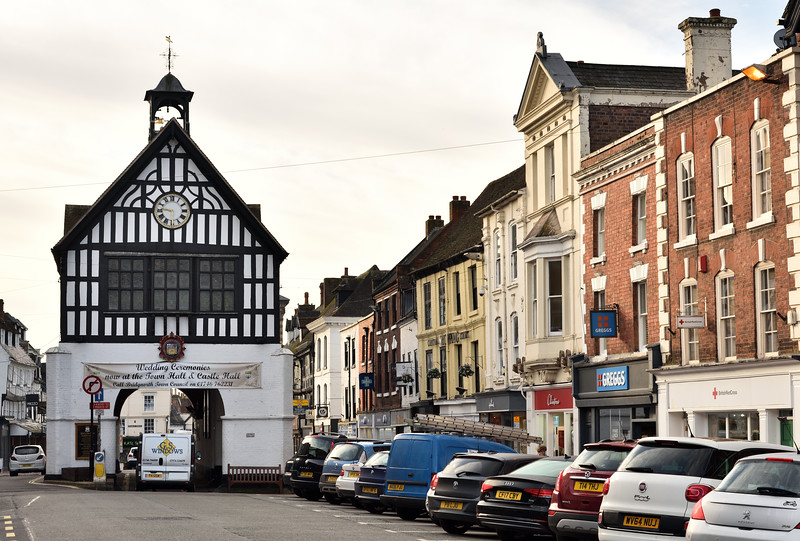 The Town Hall and High Street, Bridgnorth.