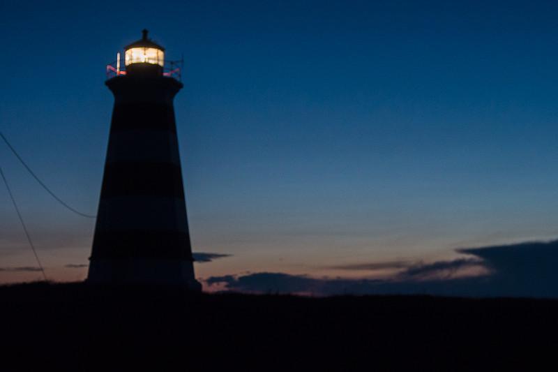 W. Light, sunset