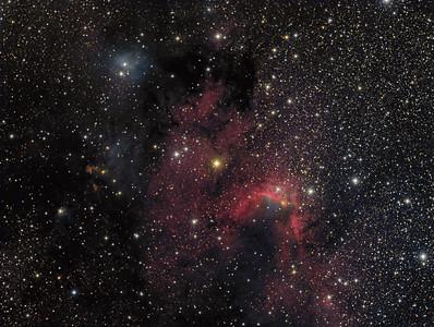 SH2-155  The Cave Nebula